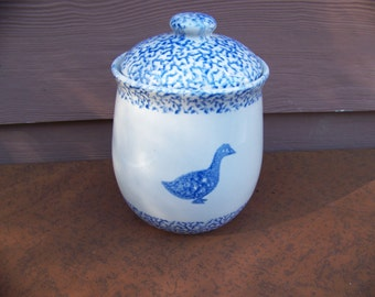 Folk Craft Goose Crock