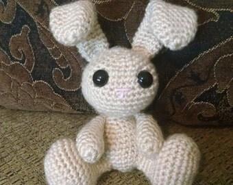 "5"" Tall Crochet Stuffed Bunny"