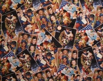 Scouts Print Fabric - A ( 43 x half yard )  x 1