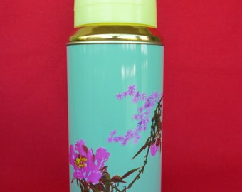 New Old Stock 80's Thermos - Vintage Thermos - Coffee Thermos- Cup Thermos- Flower Thermos -Travel Thermos 20oz/0.62lt SUNFLOWER China Nr32