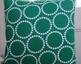 Green and White Pearl Bracelets from Lizzy House for Andover Fabrics cushion cover/pillow 45cm