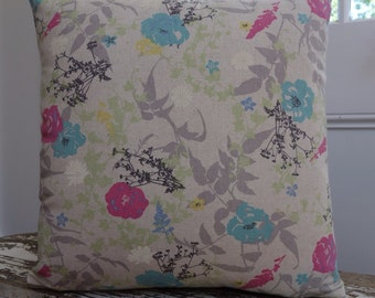 Japanese Liberty Print Cotton Cushion Cover/pillow with EST linen Backing 45cm