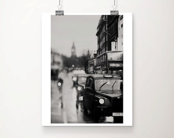 London photograph London decor black and white photography London cab photograph Black Cab photograph London print London art