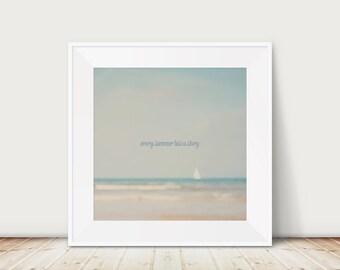 beach photograph ocean photograph surreal photograph boat photograph typography print summer photograph beach print nautical decor