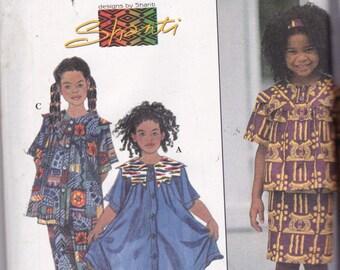 Simpicity 7014 Vintage Pattern Girls Tunic Top, Dress, Skirt,  & Pants  Size 3,4,5,6 UNCUT