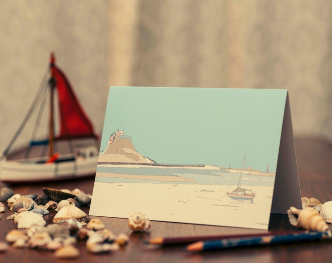 Art / Greeting Card - Holy Island, Northumberland.