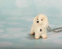 Bichon Frise Necklace - Bichon Pendant - Dog Jewelry - Dog Necklace - Animal Necklace - Bichon Frise Pendant - Bichon Dog - Frenchtutu Dog