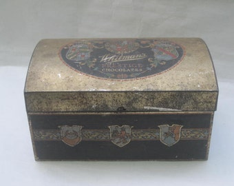 Whitman Prestige Chocolates Candy Treasure Metal/Tin Box