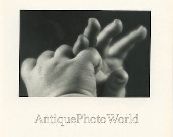 Baby hands vintage art photo by John Simons