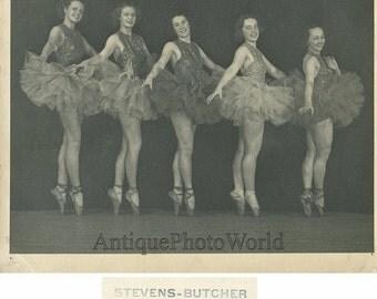 Pretty women ballerinas posing antique ballet photo Philadelphia