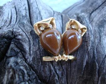 Trifari Pair of Owls - Pin