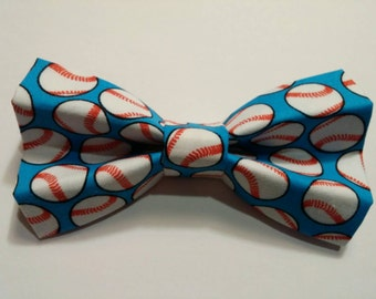 Baseball Blue Bow Tie for Dog, Cat