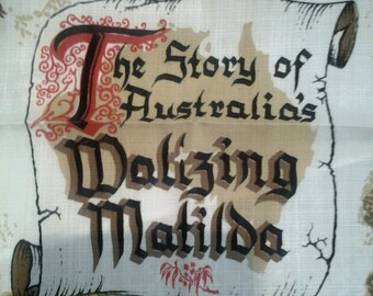 Vintage Table Linen Australia's Waltzing Matilda