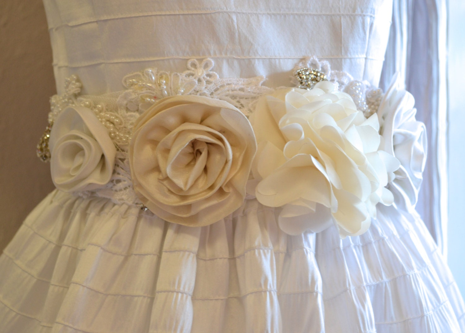 First munion Sash Flower Girl Sash Wedding Sash Bridal