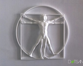 Wall Mounted 3D Printed Vitruvian Man