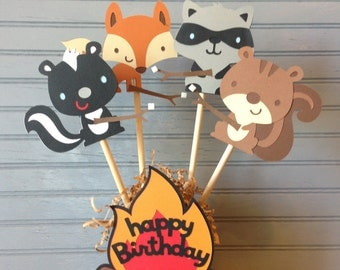 Woodland Animals Party Centerpiece