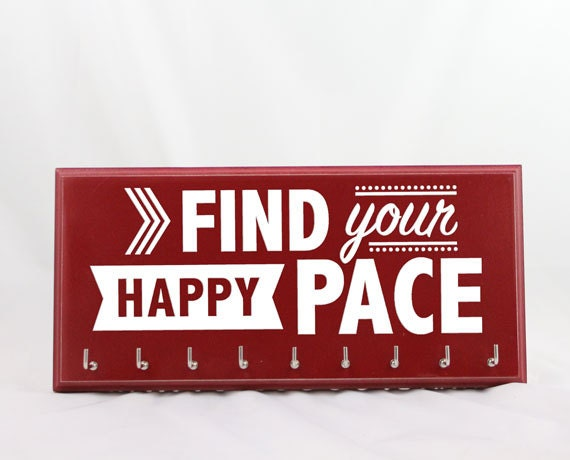 Running Medal Holder race medals running gifts Find Your Happy Pace