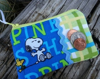 Cartoon Coin Purse, Small Zipper Wallet