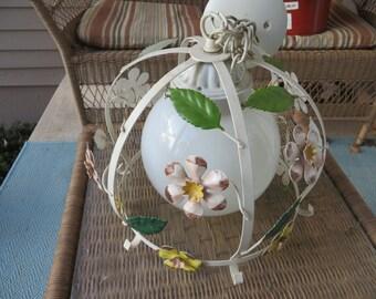 Vintage Hanging Toleware Light Globe 20% Off Moving Sale Code COLORADO