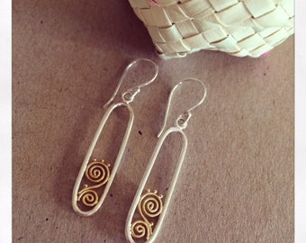 Sterling Silver 18ct Gold Drop Earrings - LIMITED EDITION