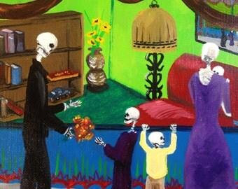 Day of the Dead, Dia Los Muertos, catrinas, calaveras, skulls, mexicana