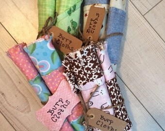 Ragged Burp Cloths for Baby