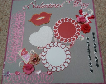 Valentine's Day Premade Layout - 1 Page 12 x 12
