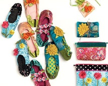 McCalls 6715 Slippers, Jewelry Pouch, Zippered Bags, and Jewelry Case Sewing Pattern