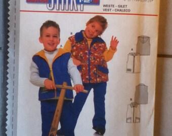 Burda Children's Vest  Pattern 2912  Children's sizes 2-7.