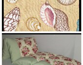 Pillow Bed, Seashells Nap Mat, Children's Pillow Bed, Pillow Mattress, Sleepover Bed