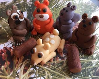 Fondant Woodland Animal Cake Decorating Set