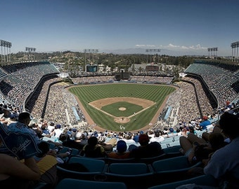 Dodgers Stadium Chavez Ravine Panorama - 15x30 in. - Los Angeles California - LA - Wall Art - Wall Decor