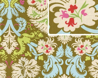 Amy Butler Fabric Belle Acanthus in Olive 1 yard
