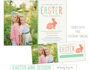 Easter Mini Session Template FREE Facebook Design INSTANT DOWNLOAD