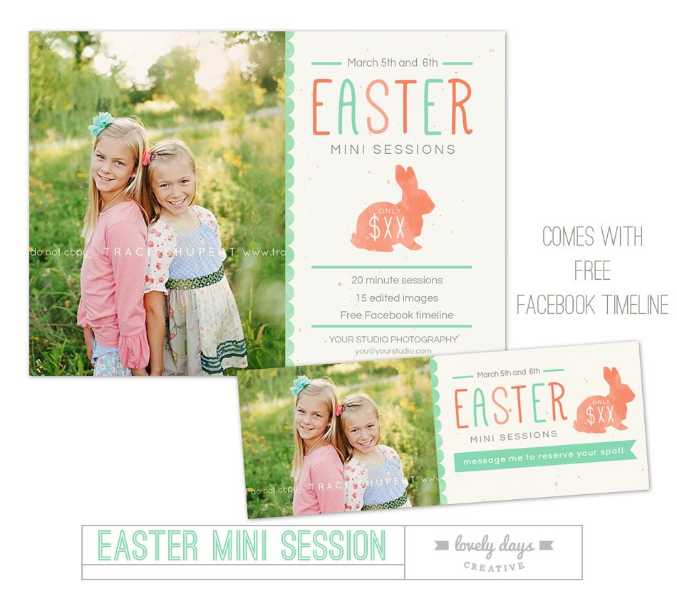 Easter mini session template free facebook design instant for Free mini session templates