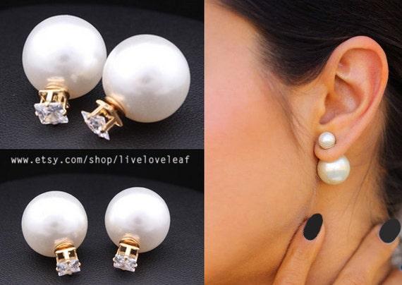boucle oreille perle dior
