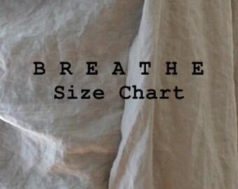 BREATHE Clothing - SIZE Chart