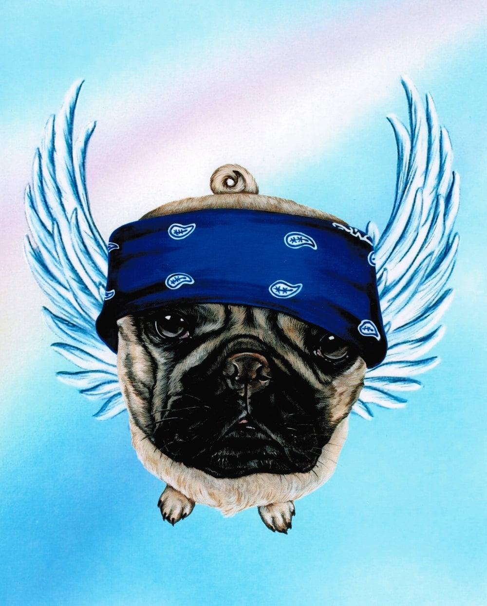 Pug Pug Angel Pug Art Pug Life Dog Angel Pugs By Artbyweeze