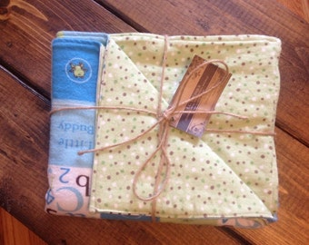 READY TO SHIP -- Flannel Baby Blanket - Double Sided - Infant/Toddler Flannel Blanket -- Boy Flannel Blanket