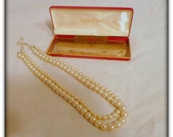 Vintage Revlon Fashion Pearls in Original Box