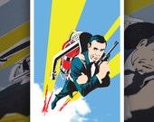 "Screen Printed James Bond Thunderball Poster • 5 colors • 12""x18"" poster"