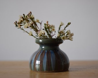 Dybdahl Denmark - small vase - handpainted decor - mid century
