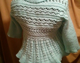 PDF Knitting Pattern--My Seafoam Shrug