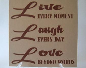 CLOSEOUT SALE* Live~Laugh~Love 12x12 Canvas