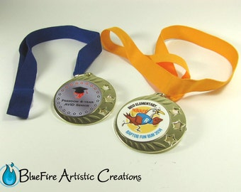 Custom Award Medal with Ribbon, Award Medallion Custom Award