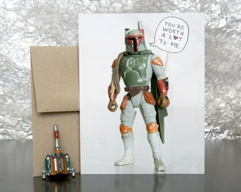 Star Wars Valentine Card - Worth A Lot To Boba Fett