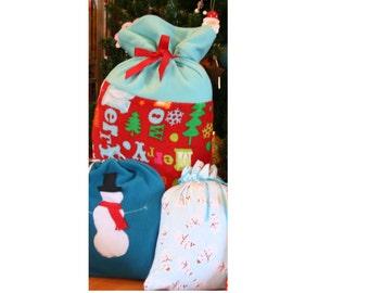 Merry Christmas Gift Bag Santa Sack