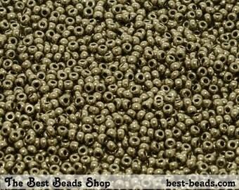 25g (4200pcs) Jet Gray Haze Rocaille 12/0 (1.9mm) Preciosa Czech Glass Seed Beads