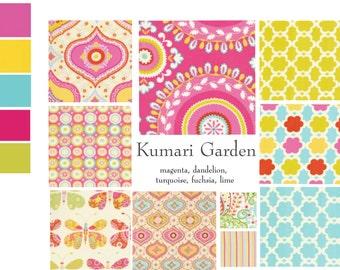 Custom baby bedding, Baby girl bedding featuring Kumari Garden, pink baby bedding