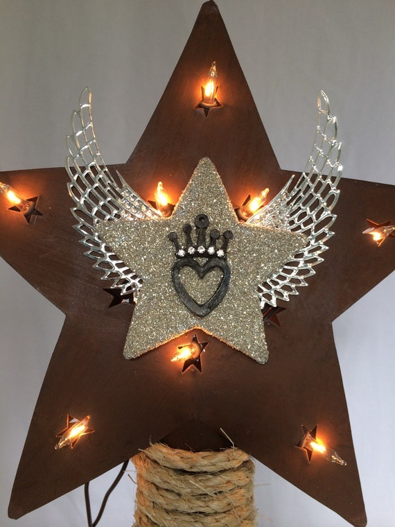 christmas tree topper star country western by christmastreetops. Black Bedroom Furniture Sets. Home Design Ideas